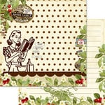 Websters Pages - Sweet As Cherry Pie Collection - 12 x 12 Double Sided Paper - Mom's Ingredients