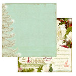 Websters Pages - Winter's Wings Collection - Christmas - 12 x 12 Double Sided Paper - Snow Tips, BRAND NEW