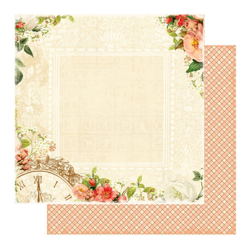 Websters Pages - Lullaby Lane Collection - 12 x 12 Double Sided Paper - In Due Time