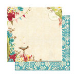 Websters Pages - Garden Gala Collection - 12 x 12 Double Sided Paper - Celebrate Life