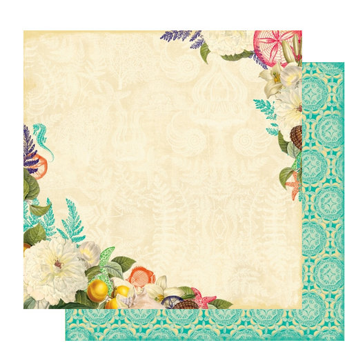 Websters Pages - Seaside Retreat Collection - 12 x 12 Double Sided Paper - Hide and Seek