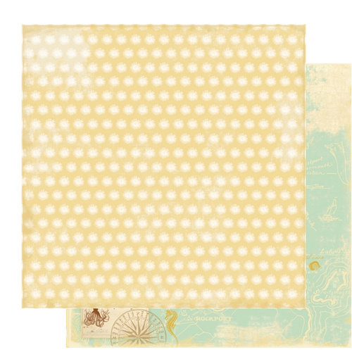 Websters Pages - Seaside Retreat Collection - 12 x 12 Double Sided Paper - A Seahorses Legend, CLEARANCE