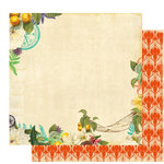 Websters Pages - Seaside Retreat Collection - 12 x 12 Double Sided Paper - Readers Paradise, CLEARANCE