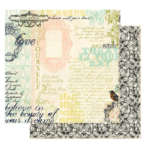 Websters Pages - Lifes Portrait Collection - 12 x 12 Double Sided Paper - Love Yourself