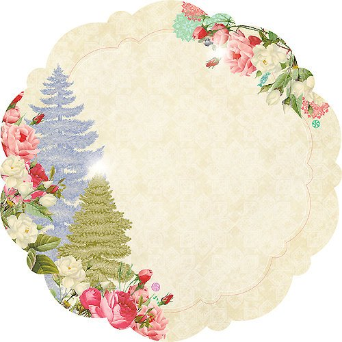 Websters Pages - Sweet Season Collection - Christmas - 12 x 12 Die Cut Paper - Sweet
