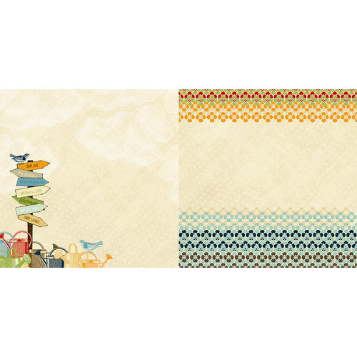Websters Pages - Spring Market Collection - 12 x 12 Double Sided Paper - Good Living