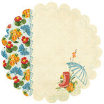 Websters Pages - Spring Market Collection - 12 x 12 Die Cut Paper - Spring Market