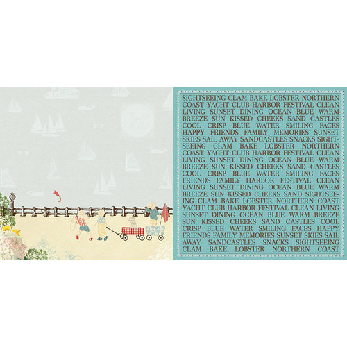 Websters Pages - Yacht Club Collection - 12 x 12 Double Sided Paper - Boardwalk