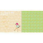 Websters Pages - Trendsetter Collection - 12 x 12 Double Sided Paper - Style 105