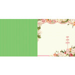 Websters Pages - Let's Celebrate Collection - 12 x 12 Double Sided Paper - Garden Party