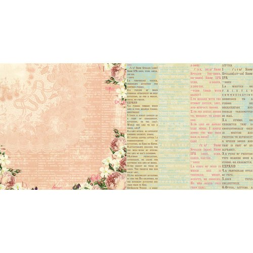 Websters Pages - Western Romance Collection - 12 x 12 Double Sided Paper - Sweet Romance