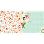 Websters Pages - Sunday Picnic Collection - 12 x 12 Double Sided Paper - Blanket of Poppies