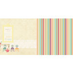 Websters Pages - Sunday Picnic Collection - 12 x 12 Double Sided Paper - Sunday Gathering