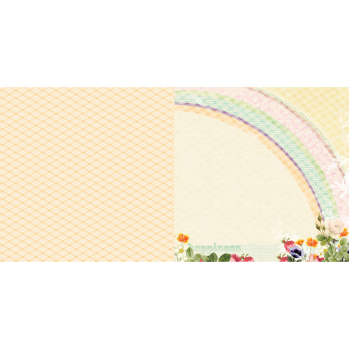 Websters Pages - Sunday Picnic Collection - 12 x 12 Double Sided Paper - Rainbow Sky