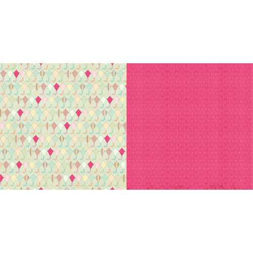 Websters Pages - Sunday Picnic Collection - 12 x 12 Double Sided Paper - Kite Tails