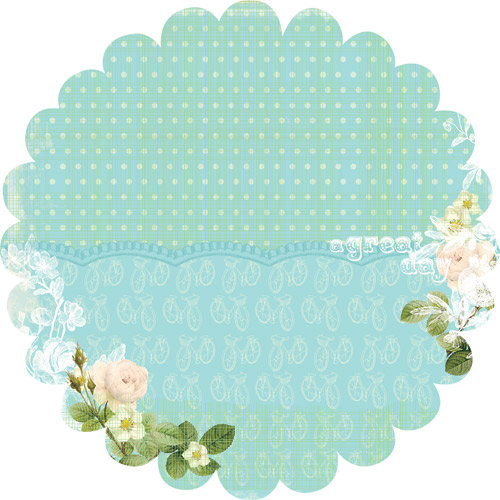 Websters Pages - Sunday Picnic Collection - 12 x 12 Die Cut Paper - Sunday Picnic