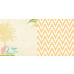 Websters Pages - The Palm Beach Collection - 12 x 12 Double Sided Paper - Palm Beach Girl
