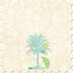 Websters Pages - The Palm Beach Collection - 12 x 12 Die Cut Paper - The Palm Beach