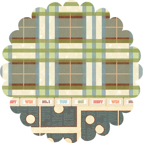 Websters Pages - Game On Collection - 12 x 12 Die Cut Paper - Game On