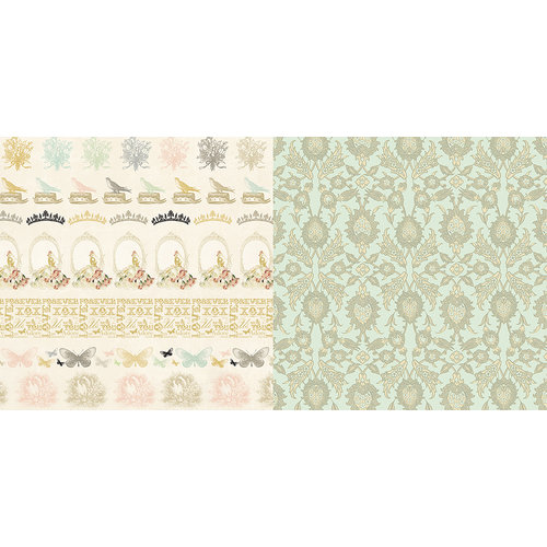 Websters Pages - In Love Collection - 12 x 12 Double Sided Paper - Something Old