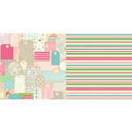 Websters Pages - Girl Land Collection - 12 x 12 Double Sided Paper - Retail Therapy