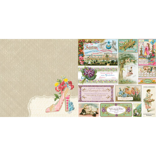 Websters Pages - Girl Land Collection - 12 x 12 Double Sided Paper - Perfect Fit