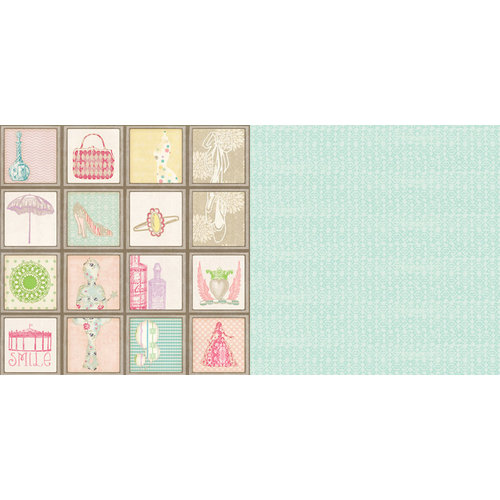 Websters Pages - Girl Land Collection - 12 x 12 Double Sided Paper - Favorite Things