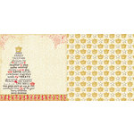 Websters Pages - Royal Christmas Collection - 12 x 12 Double Sided Paper - The Royal Tree