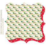 Websters Pages - Royal Christmas Collection - 12 x 12 Die Cut Paper - Royal Christmas