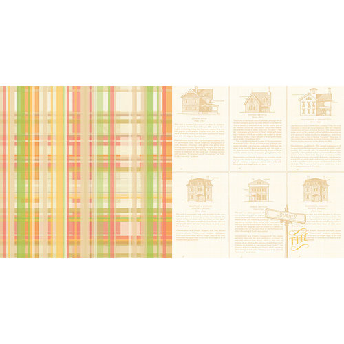 Websters Pages - Park Drive Collection - 12 x 12 Double Sided Paper - The Journey