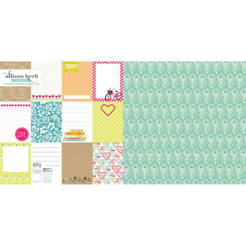 Websters Pages - Sweet Notes Collection - 12 x 12 Double Sided Paper - Sweet Sentiments