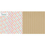 Websters Pages - Sweet Notes Collection - 12 x 12 Double Sided Paper - Candy Hearts