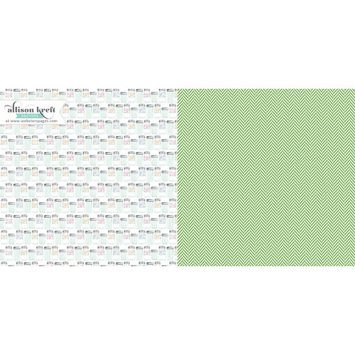 Websters Pages - Sweet Notes Collection - 12 x 12 Double Sided Paper - Making Jam