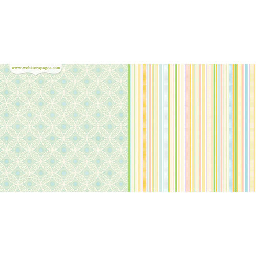 Websters Pages - New Beginnings Collection - 12 x 12 Double Sided Paper - Moring Glory