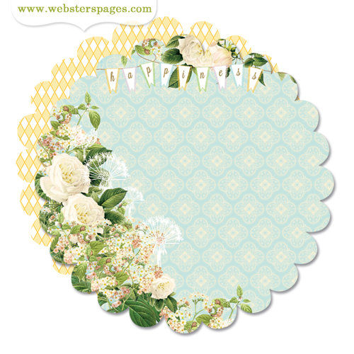 Websters Pages - New Beginnings Collection - 12 x 12 Die Cut Paper