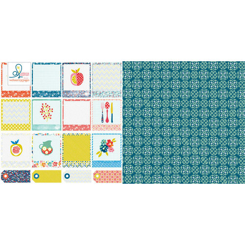 Websters Pages - Adrienne Looman - Citrus Squeeze Collection - 12 x 12 Double Sided Paper - Fruit Smoothie