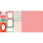 Websters Pages - Adrienne Looman - Citrus Squeeze Collection - 12 x 12 Double Sided Paper - Day Trip