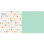 Websters Pages - Hello World Collection - 12 x 12 Double Sided Paper - Pitter Patter