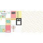 Websters Pages - Hello World Collection - 12 x 12 Double Sided Paper - Welcome Love