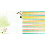 Websters Pages - Growing Up Girl Collection - 12 x 12 Double Sided Paper - Express Yourself