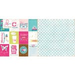 Websters Pages - Sweet Routine Collection - 12 x 12 Double Sided Paper - Around The House