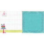 Websters Pages - Sweet Routine Collection - 12 x 12 Double Sided Paper - Couch Potato