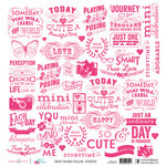 Websters Pages - Sweet Routine Collection - 12 x 12 Vellum - Sweet Sayings