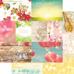 Websters Pages - Strawberry Fields Collection - 12 x 12 Double Sided Paper - Storyteller Card Sheet I
