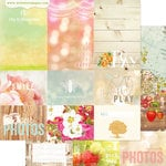 Websters Pages - Strawberry Fields Collection - 12 x 12 Double Sided Paper - Storyteller Card Sheet II