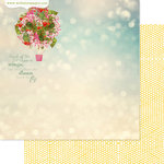Websters Pages - Strawberry Fields Collection - 12 x 12 Double Sided Paper - Balloon Bouquet