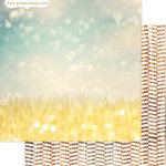 Websters Pages - Strawberry Fields Collection - 12 x 12 Double Sided Paper - Field of Gold