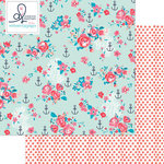 Websters Pages - Ocean Melody Collection - 12 x 12 Double Sided Paper - Anchors Away