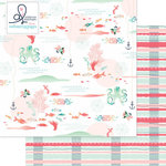 Websters Pages - Ocean Melody Collection - 12 x 12 Double Sided Paper - Sand and Sea