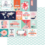 Websters Pages - Ocean Melody Collection - 12 x 12 Double Sided Paper - Summer Fun